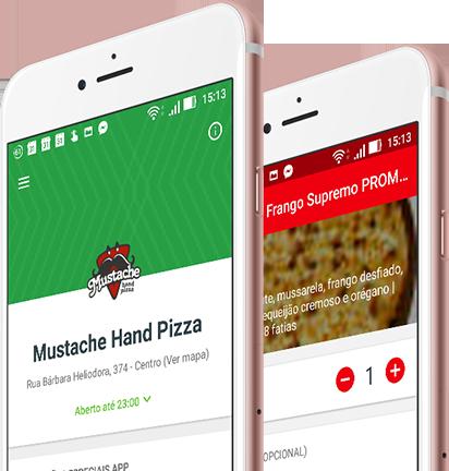 Peça sua pizza pelo aplicativo